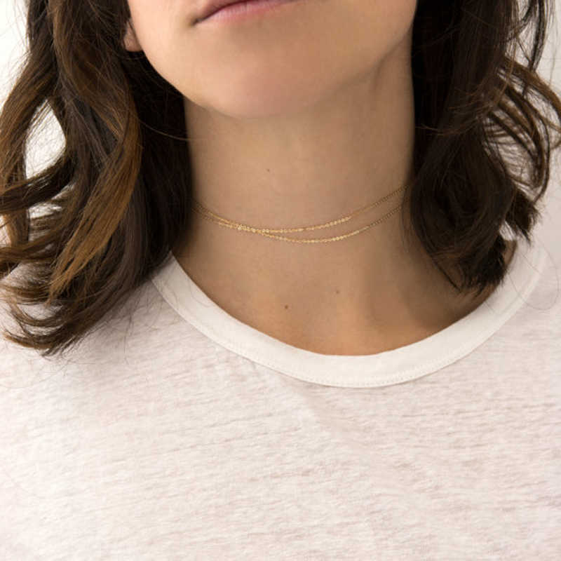 Layered choker Maxi Statement Necklace Gold Color Big sparkly choker Fashion jewelry Trendy Chocker X262