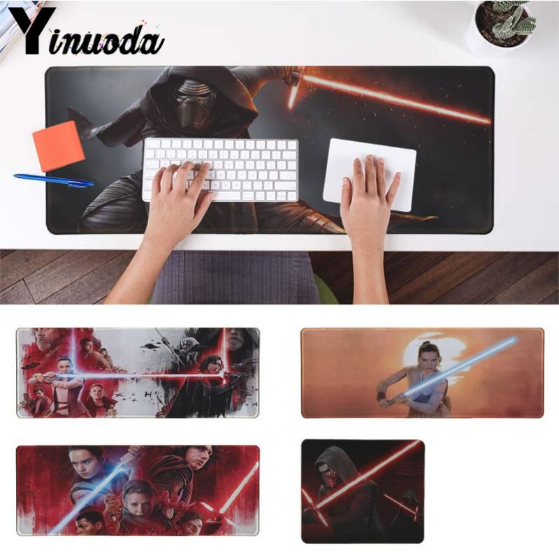 Yinuoda REY KYLO REN LIGHTSABER FIGHT pc game Beautiful Anime Mouse Mat Size for 30x90cm and 40x90cm Gaming Mousepads