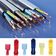 60pcs T Tap Electrical Connectors Quick Wire Splice Taps and Insulated Terminal konektor led strip connector(China)