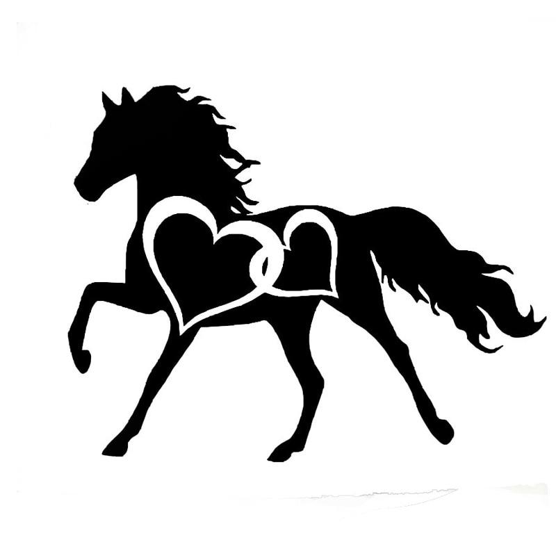 Cute Horse Car Bumper Sticker Decal 4/'/' x 5/'/'