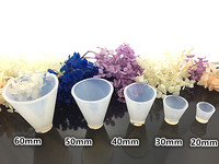 5pcs/lot Cone Crystal 5 sizes Silicone Resin Mold Jewelry CuteMaking DIY Craft White 20-60mm