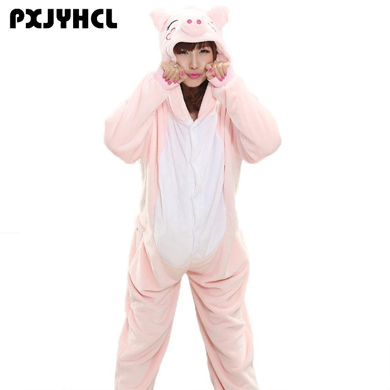 a5cdff9f32a Animals Kigurumi Unicorn Cosplay Costume Adult Girl Unicorn Onesie Flannel  Pig Women Anime Jumpsuit Disguise Onepiece Suit-in Anime Costumes from ...