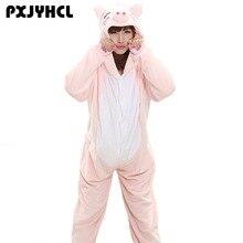 Animals Kigurumi Unicorn Cosplay Costume Adult Girl Onesie Flannel Pig Women Anime Jumpsuit Disguise Onepiece Suit