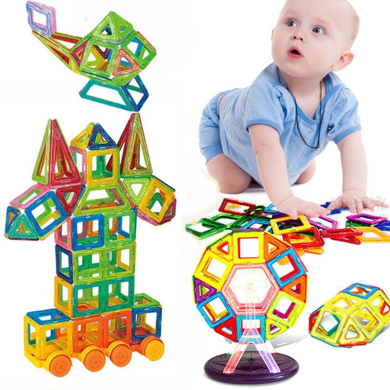 Mini 115Pcs/Set Models & Building Toy Magnetic Designer Educational Building Blocks Plastic Assemble Enlighten Bricks Kids Toys magnetic toy 77pcs mini magnetic models