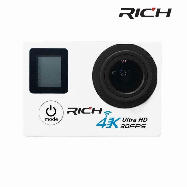 DHL RICHE SJ8000D 4 K Camera Action 2.0 Double Écran lcd 16MP Sport WiFi Caméra 30 M Étanche mini caméscope 170 angle HDMI
