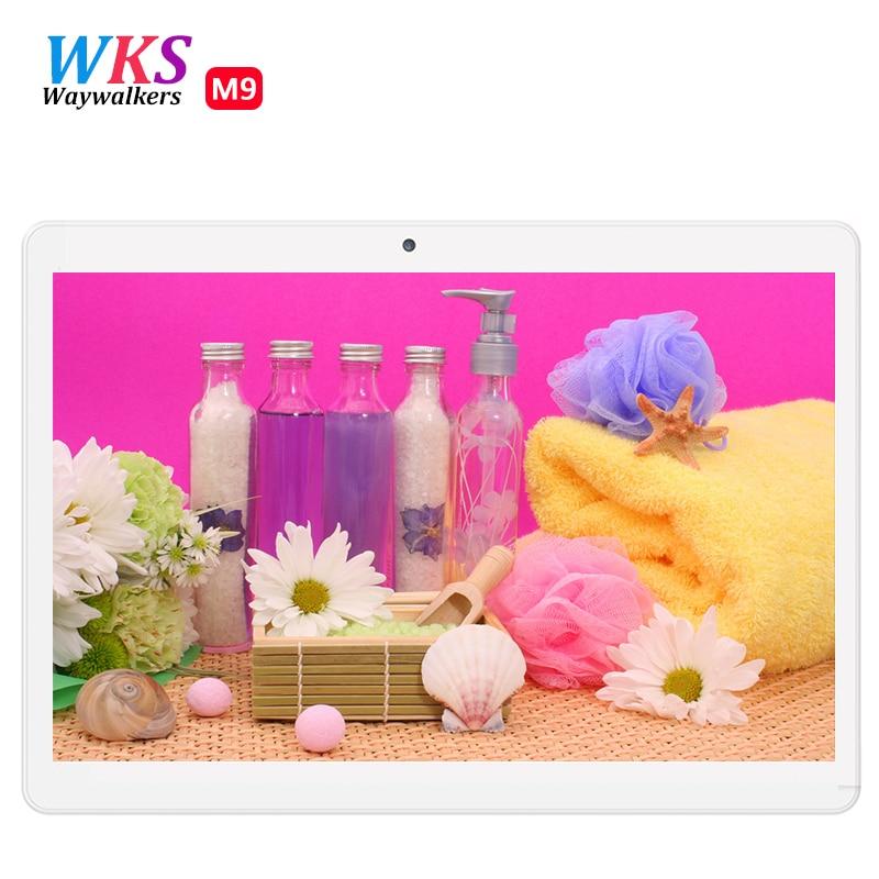 WKS A6510 Envío Libre 2017 Más Nuevo Octa Core 10.1 pulgadas Tablet PC 3G 4 GB R