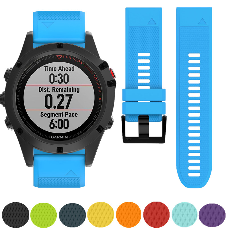 ASHEI 26mm Silicone Sport Bracelet Watchbands For Garmin Fenix 5x Band Watch Strap Easy Fit Wrist Straps For Garmin Fenix 3 3HR multi color silicone band for garmin fenix 5x 3 3hr strap 26mm width outdoor sport soft silicone watchband for garmin 26mm band