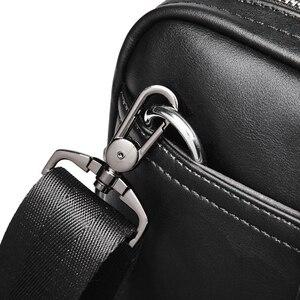 Image 3 - VORMOR Promotion Simple Famous Brand Business Men Briefcase Bag Luxury Leather Laptop Bag Man Shoulder Bag bolsa maleta