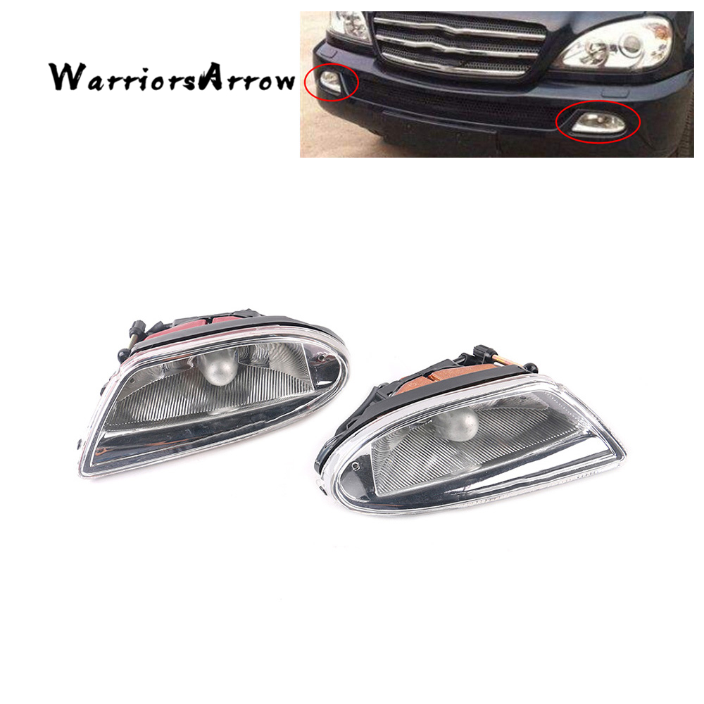 Mercedes Sprinter 2000-2003 Chrome Front Headlight Headlamp Pair Left /& Right