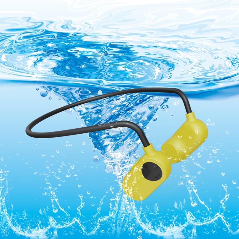 Tayogo étanche conduction osseuse MP3 HIFI Bluetooth écouteur sport APT-X USB IPX8 mp3 lecteur de musique pour sports de natation en plein air