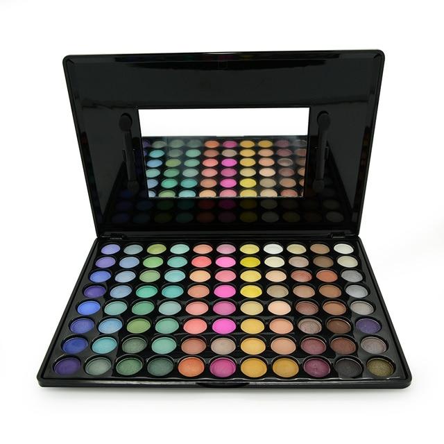 Pigmento caliente Profesional 88 A Todo Color Paleta de Sombra de ojos Shimmer Mate Sombra de Ojos Paletas de Maquillaje kit de sombra de ojos Con El Cepillo