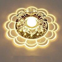 Unterputz 5 Watt Warmweiß LED Kristall gang licht Persönlichkeit korridor deckenleuchte