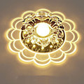 concealed installation 5W Warm White LED Crystal aisle light Personality corridor ceiling lamp