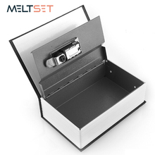 цена на Secret Dictionary Book Safe Box Hidden Security Storage Box Cash Coin Jewelry Secret Case Money Valuables Lock Box Steel Boxes