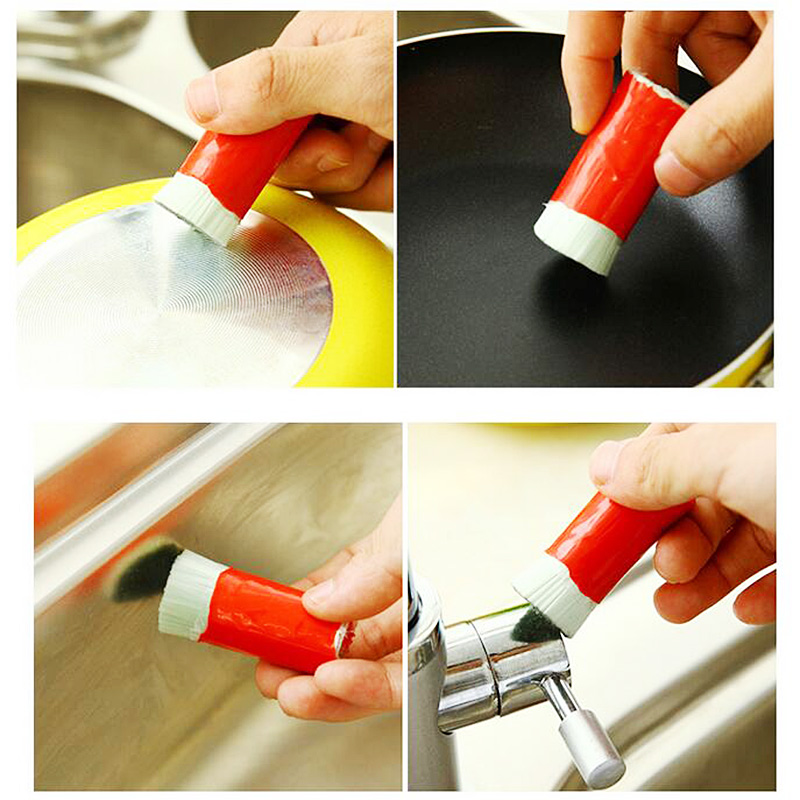 1Pcs Stainless Steel Rod Magic Stick Metal Rust Remover Cleaning Stick Wash Brush Pot Kitchen Cooking Tools P0.3 P0.2