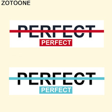 ZOTOONE Iron On Letters Heat Transfers For Clothes Letter Patches DIY T-shirt Sweater Stickers Press Appliqued