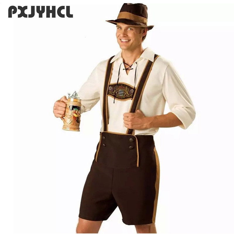 Oktoberfest Costume Set Man Bavarian Octoberfest German Festival Beer Cosplay Adult Plus Size Halloween Party Costumes