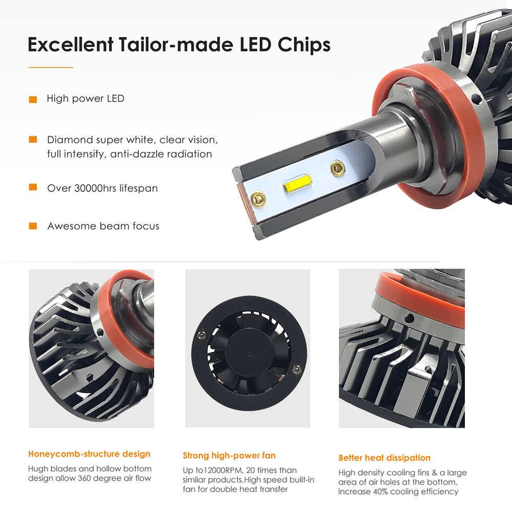 car headlight bulbs H11 mini led H7 lights SuperBright CSP Chips 9005/hb3 9006/hb4 H4 6000k fog light kit auto H1 H3 12v 24v