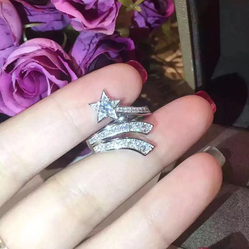Silver Ring for women party gift Pure 925 Sterling Silver Jewelry pink gems cz zircon stone wedding ring