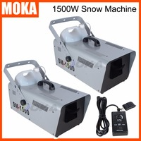 2 Pcs/lot 1500W snow machine stage snow maker Professional DJ Wireless Remote Control for Stage Effect hot sell