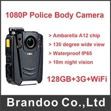 Buy 128GB+3G+WiFi Ambarella A12 1080P Police Body Worn Camera With IR Light Vision
