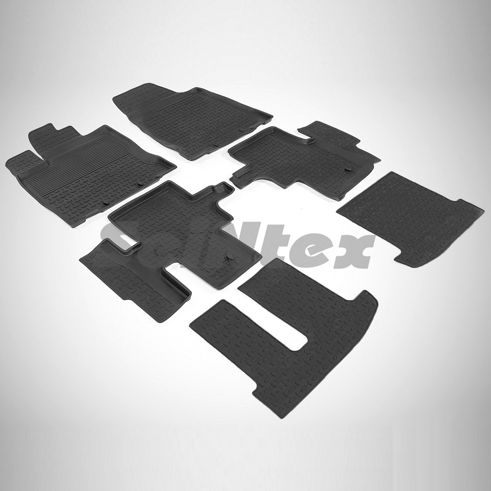 цена Rubber floor mats for Nissan Pathfinder IV R52 (2014-2018) Seintex 86189 в интернет-магазинах