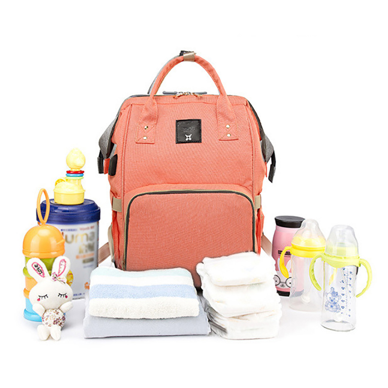 Baby Diaper Bag Usb High-Capacity Brand Fashion Organizer Bag Diaper Backpack Nappy Wet Bag Waterproof Travel Child Backpack Bag new arrival sunveno fashion diaper bag backpack high capacity nappy bag baby travel backpack with insulation pocket