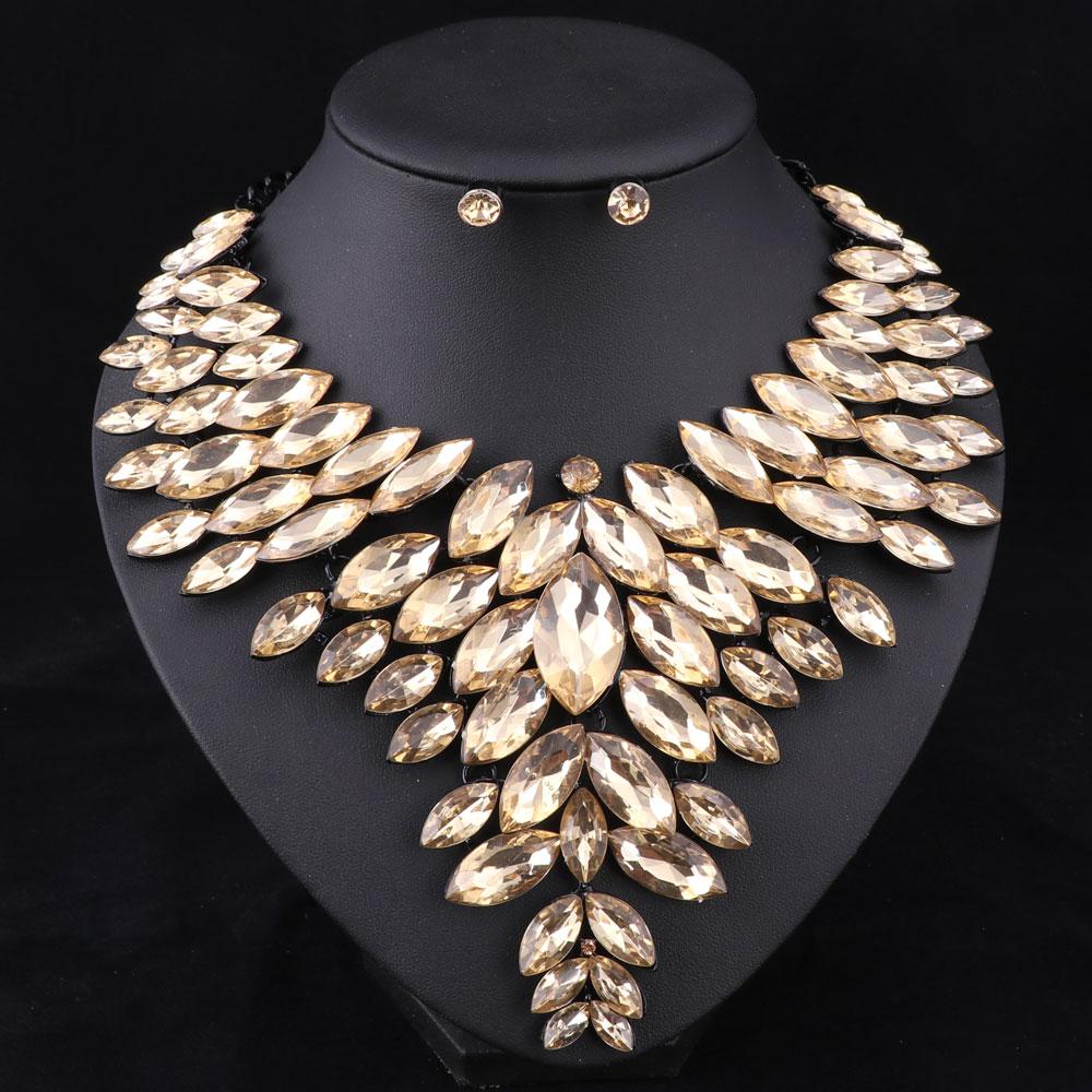 7 colores conjuntos de joyas de cuentas africanas collar de boda - Bisutería - foto 6