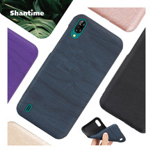 Wood grain PU Leather Phone Case For Blackview A60 Soft Silicone Case For Blackview A60 Gel Silicone Protective Back Shell(China)
