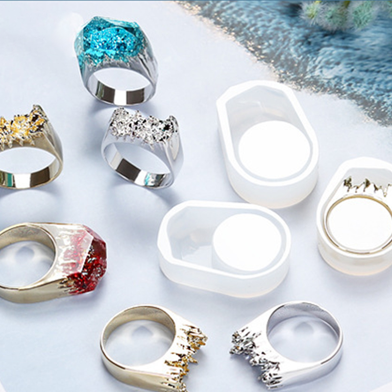 Metal Rings Silicone Mould DIY Handcraft Crystal Epoxy Mold Pendant Ornaments Accessories Jewelry Ring Making Tool 16/17/18mm