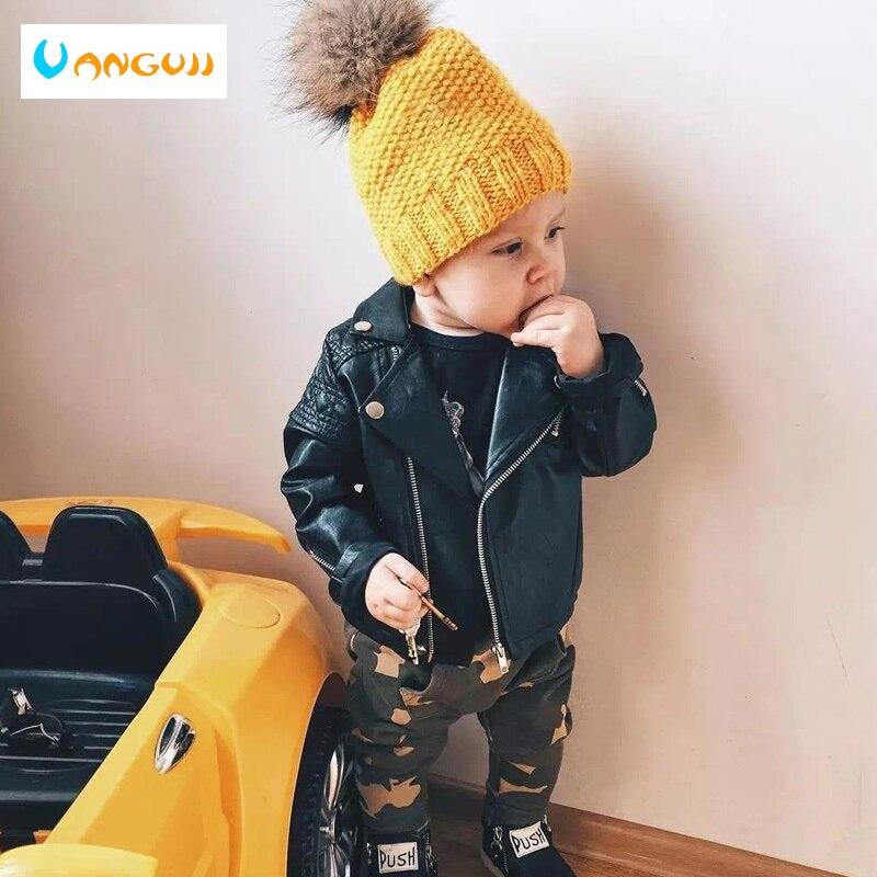 Куртка из искусственной кожи для мальчиков Демисезонный детская мотоциклетная кожаная от 1 до 7 лет Мода бриллиант цвета стеганый на молнии ...
