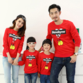 Family Matching Outfit Cotton O-neck T shirts Mother Daughter Father Son T shirt Clothes Family Clothing Cartoon Family Set GL15