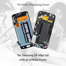 AAA Original Best Amoled Lcd Touch Screen for Samsung Galaxy S6 Edge G925F Display Replacement with or without frame free gift skylarpu 2 6 inch lcd display screen df1624x fpc 1 re v for garmin edge 810 without backlight without touch free shipping