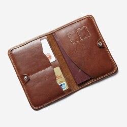 جلد طبيعي غطاء جواز سفر مصمم متعدد الوظائف حافظة جواز السفر السفر الرجال حامل جواز السفر