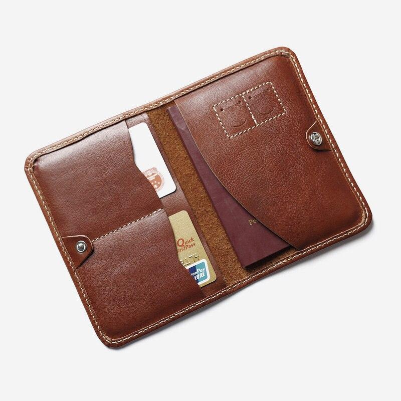 Cuir véritable Couverture Du Passeport Designer Multifonctionnel Passeport Portefeuille Voyage Hommes Passeport Titulaire