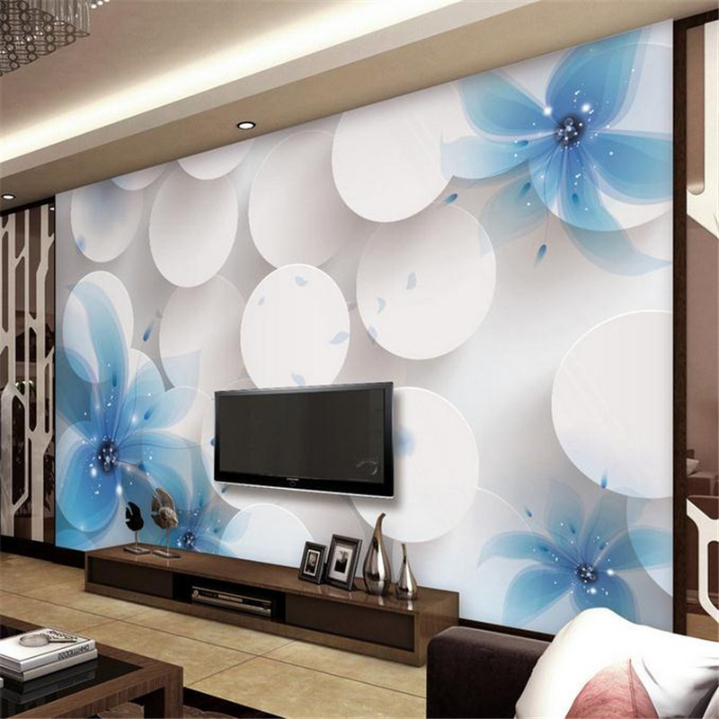custom 3d stereoscopic minimalist modern wallpaper TV sofa  background wall mural fashion simple fantasy lily flower wallpaper modern home deco fashion 3d stereo romantic style mural wallpaper for wall dec tv sofa bed background no ai59