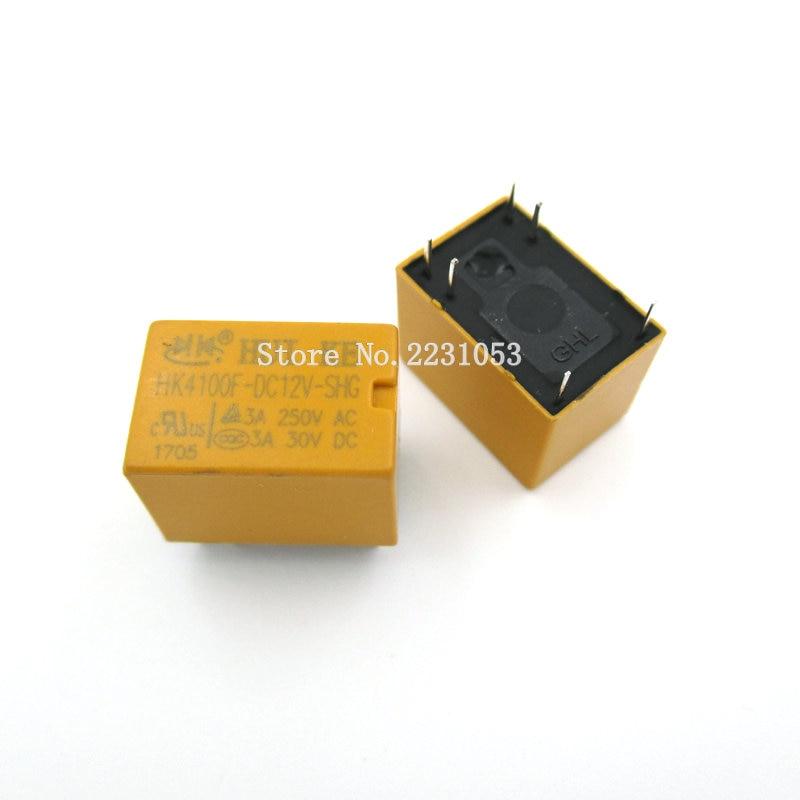 цена на 5PCS/LOT HK4100f-DC12V-SHG Relay hk4100F-DC12V HK4100F 12 V DIP6 3A 250V AC/ 3A 30V DC
