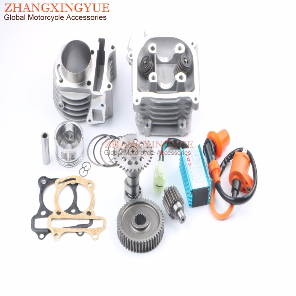 52mm 105cc Big Bore Performance Kit A9 Cam AC CDI for GY6 50cc 139QMB Chinese Scooter