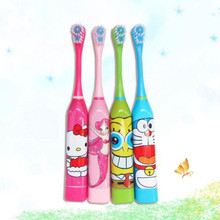 Children's Toothbrush Cute Cartoon Electric Toothbrush Lansung Sonic Teeth Whitening Ultrasonic Toothbrush Escova de dente elet