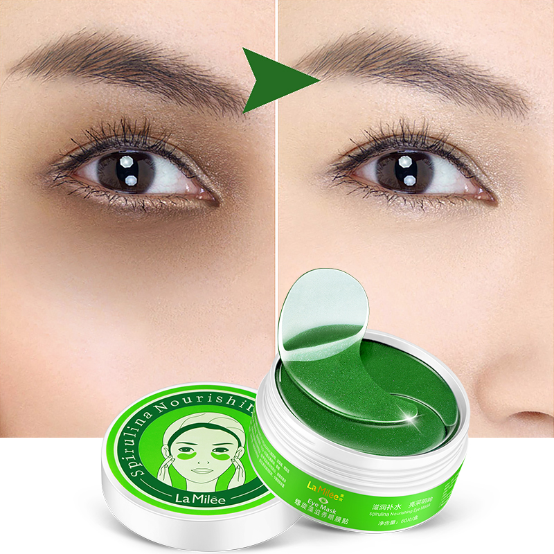 LAMILEE Eyes Skin Care 60Pcs Green Spirulina Gel Eye