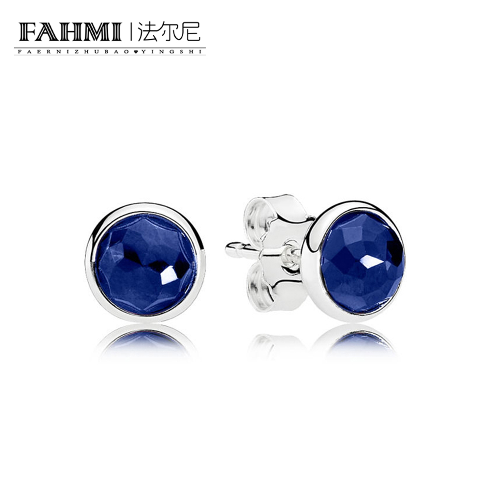 FAHMI 100% Sterling silver 1:1 Glamour 290738SSA EARRING Original Women wedding Fashion Jewelry 2018 0