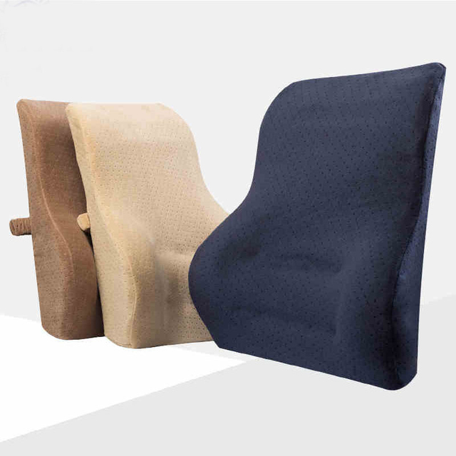 Slow Rebound Memory Foam Back Cushion Lumbar Seat For Car Home Office Chair Decoration