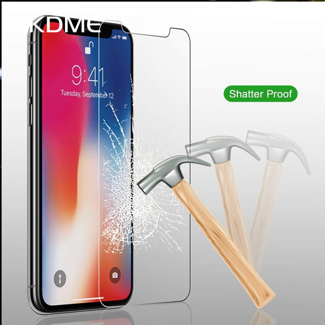 Tempered Glass For iPhone XS XR XS MAX Screen Protector Cover For iPhone 8 X 7 6 6S Plus 5 5S SE XS 6.1 6.5 5.8 inch 2018