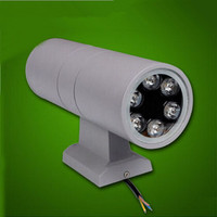 Free shipping 10pcs/lot 6W/12W Double wall Lamp LED wall light up an Down outdoor waterproof/AC85 264V 2year warranty