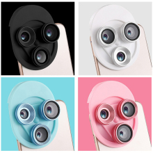 phone camera lens wide angle fish eye macro three-in-one integrated turntable for cellphone