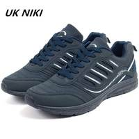 UKNIKI Outdoor Men Casual Shoes Material Striped Pattern Hard Wearing Anti Odor Lace Up Shoes Breathable