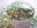 Polvo fino Verde iridiscencia Escama Blanca Mezcla de brillo de Esmalte de Uñas Hacer Uñas Proveedor G524