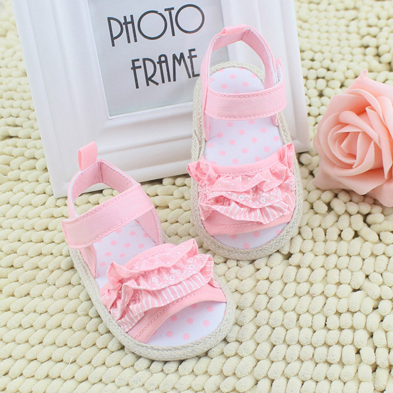 SummerCute Lovely Sweet Baby Infant Toddler Girl Lace Soft Sole Non-slip Shoes 0-18M