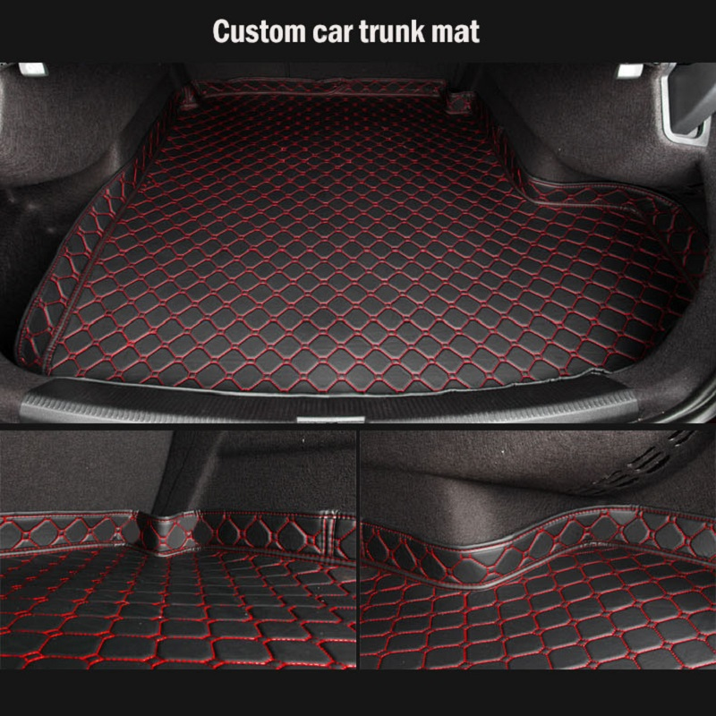 Car Trunk Mats for Hyundai i30 ix25 ix35 ix45 Santafe Verna Sonata NF Tucson Accessories Car Cargo Liner Boot Carpet Trunk Mats