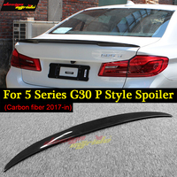 For BMW G30 tail Carbon Spoiler P Style 5 Series G30 530i 540i M Performance Carbon Fiber Rear Spoiler Rear Trunk Wing 2017 2018